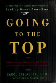Cover of: Going to the top | Carol Gallagher