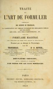 Cover of: Traité de l'art de formuler