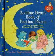 Cover of: Bedtime bear's book of bedtime poems