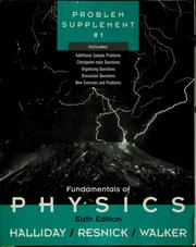 Fundamentals of physics, problem supplement # 1. by David Halliday