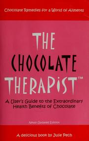 Cover of: The chocolate therapist