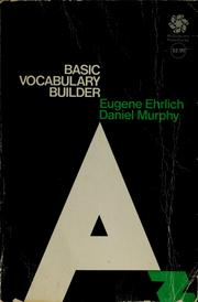 Cover of: Basic vocabulary builder