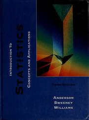 Introduction to statistics by David Ray Anderson