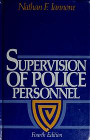Cover of: Supervision of police personnel