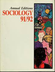 Cover of: Sociology 91/92