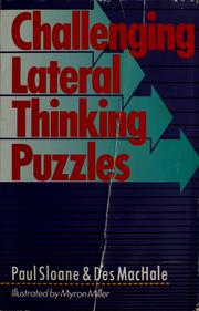 Cover of: Challenging lateral thinking puzzles