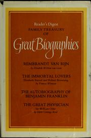 Cover of: Reader's digest family treasury of great biographies