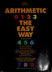 Cover of: Barron's arithmetic the easy way | Williams, Edward