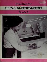 Cover of: Practice for using mathematics, book 6. |