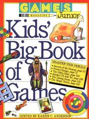 Cover of: Games magazine junior kids' big book of games | Karen C. Anderson
