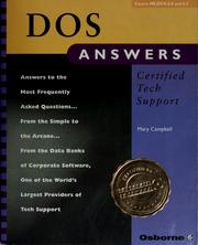 Cover of: DOS answers
