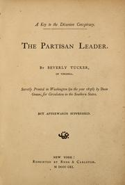 Cover of: The partisan leader | Nathaniel Beverley Tucker