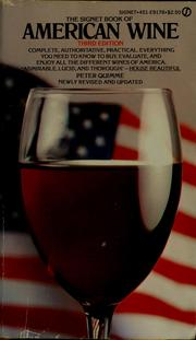 Cover of: The Signet book of American wine