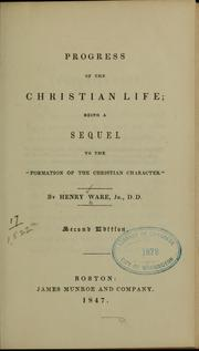 Cover of: Progress of the Christian life