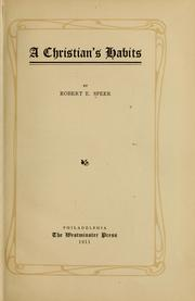 Cover of: A Christian