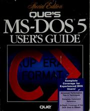 Cover of: Que's MS-DOS 5 user's guide