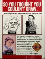 Cover of: So you thought you couldn't draw