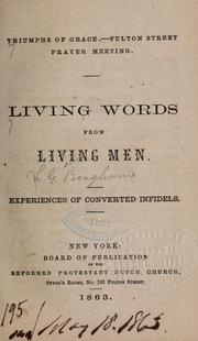 Cover of: Living words form living men... | Luther G. Bingham