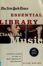 Cover of: Classical music