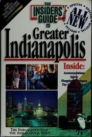 Cover of: The Insiders' Guide to greater Indianapolis