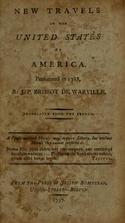 Cover of: New travels in the United States of America