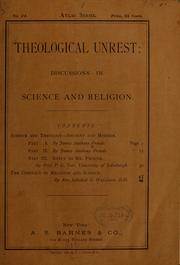 Cover of: Theological unrest: discussions in science and religion ...