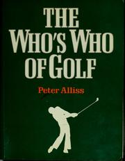 Cover of: The who's who of golf