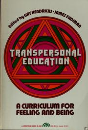 Cover of: Transpersonal education