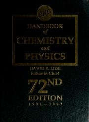Cover of: CRC handbook of chemistry and physics | David R. Lide