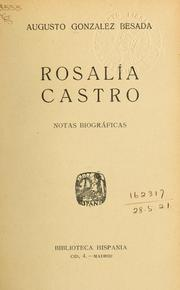 Cover of: Rosalia Castro