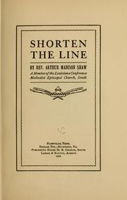 Cover of: Shorten the line