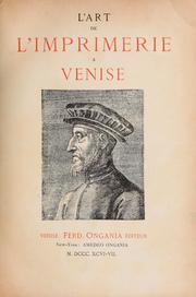 L' art de l'imprimerie à Venise.