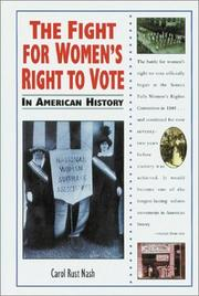 Cover of: The fight for women's right to vote in American history