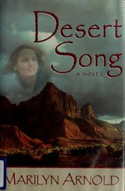 Cover of: Desert song