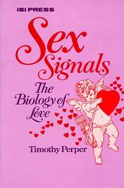 Cover of: Sex Signals | Timothy Perper