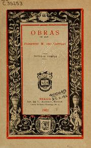 Cover of: Obras de Don Florencio M. del Castillo