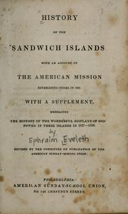 Cover of: History of the Sandwich Islands