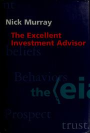 Cover of: The excellent investment advisor