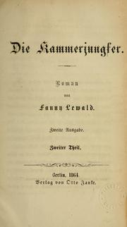 Cover of: Die Kammerjungfer