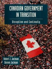 Cover of: Canadian government in transition