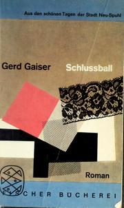 Cover of: Schlussball | Gaiser, Gerd