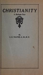 Cover of: Christianity | Samuel Horatio Yeater