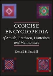 Cover of: Concise encyclopedia of Amish, Brethren, Hutterites, and Mennonites