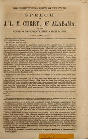 Cover of: The Constitutional rights of the states