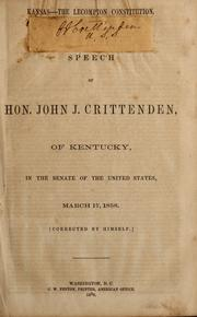 Cover of: Kansas--The Lecompton constitution