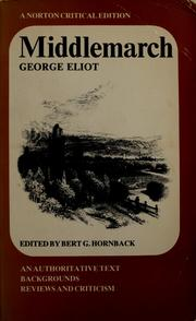 Cover of: Middlemarch, by G. Eliot by George Eliot