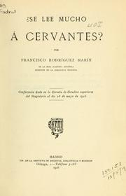 Cover of: Se lee mucho á Cervantes?
