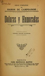 Cover of: Doloras y humoradas