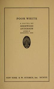 Cover of: Poor White: a novel