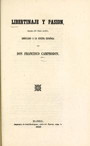 Cover of: Libertinaje y pasión